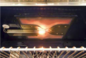 NXR Pro ranges feature powerful Infrared Broilers for restaurant style searing and broiling
