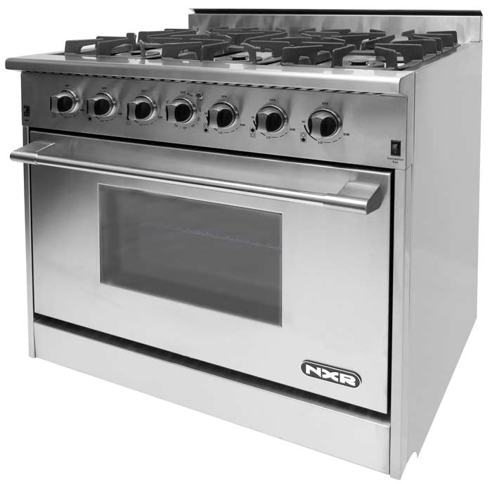 Nxr Range 36 Inch With 6 Burners Constructed All Stainless Steel For Quality And Durability