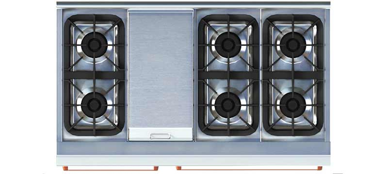 NXR model DRGB4801 top view with Griddle Cover